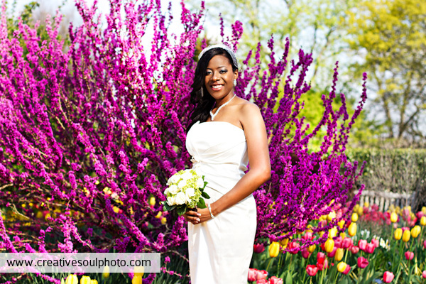 Atlanta Botanical Gardens wedding photo